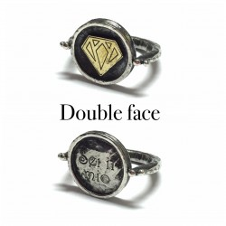 ANELLO DOUBLE FACE SIMBOLO DIAMANTE