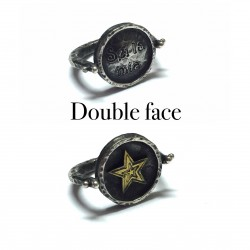 ANELLO DOUBLE FACE SIMBOLO STELLA